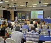 Participantes en la presentación del programa de País PMA (Programa Mundial de Alimentos) Cuba para el período 2015-2018, en el Hotel Meliá Cohíba, en La Habana, el 9 de julio de 2015. Foto: AIN.