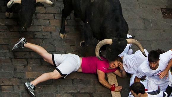 Pamplona, España, a 9 de julio. Foto Andres Kudacki/  AP