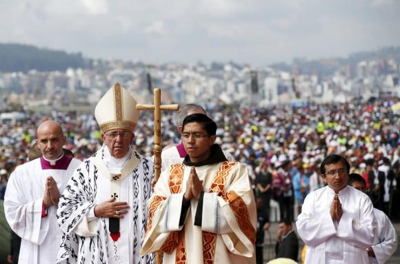"""Papa Francisco en Quito: """"La confianza es tan artesanal como la paz"""""""