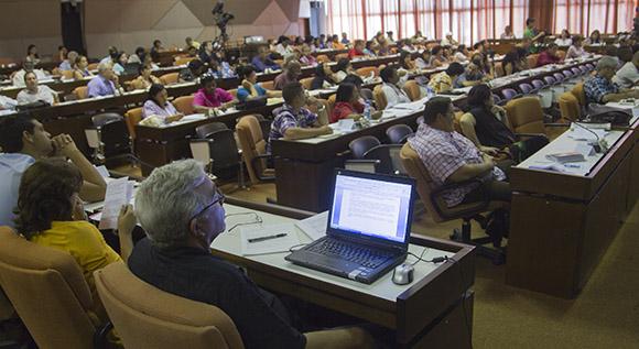 Comisión de Educación, Cultura, Ciencia, Tecnología y Medio Ambiente. Foto: Ismael Francisco/Cubadeabte.