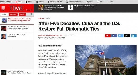 Amplia repercusión en la prensa internacional de restablecimiento de relaciones Cuba-EE.UU