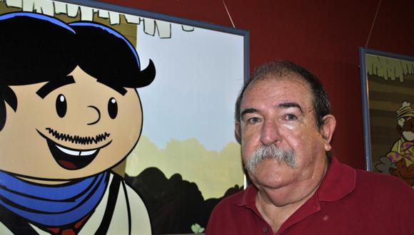 Juan Padrón dio la bienvenida a esta nueva edición de Arte en La Rampa. Foto: Marianela Dufflar