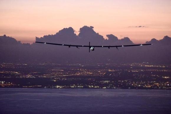 El avión, poco antes de aterrizar en Hawaii
