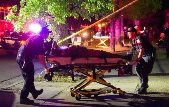 Mueren tres personas tras tiroteo en Baltimore. Foto: Twitter.
