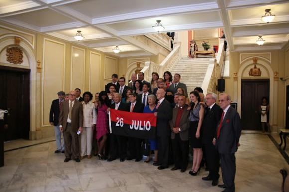 Nuestra delegación en nuestra embajada. Foto: Silvio Rodríguez/ Segunda Cita