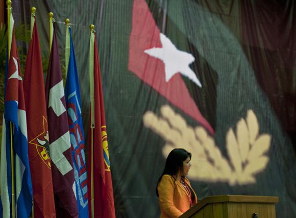 Yuniasky Crespo, Primera secretaria de la UJC. Foto: Ladyrene Pérez/ Cubadebate.