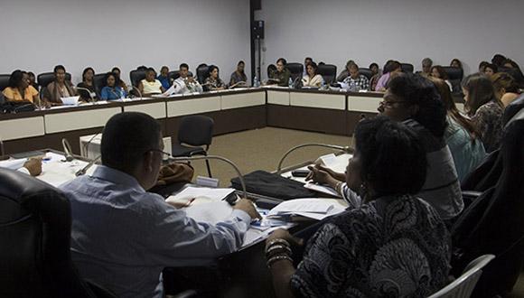 Comisión de Atención a la juventud, la niñez y la Igualdad de derechos de la mujer. Foto: Ismael Fracisco/ Cubadebate