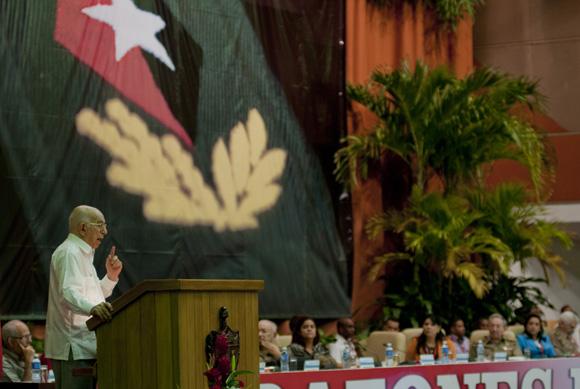 las palabras de clausura estuvieron a cargo del Segundo Secretario del Partido Comunista de Cuba,  José Ramón Machado Ventura. Foto: Ladyrene Pérez/ Cubadebate.
