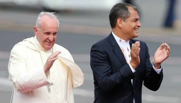 correa-y-el-Papa