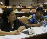 Regla Gracía, diputada por Plaza de la Revolución durante los debates de la Comisión Educación, cultura, ciencia, tecnología y medio ambiente. Foto: Ladyrene Pérez/ Cubadebate.