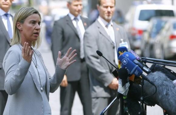 """""""Continuaremos negociando por los próximos días"""", informó la jefa de Política Exterior de la UE, Federica Mogherini. Foto Reuters."""