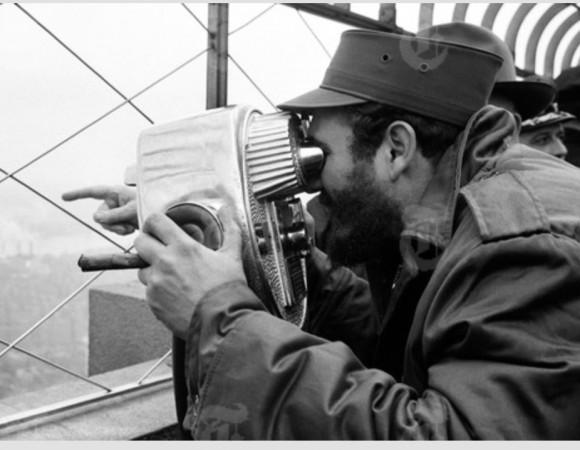 Fidel en el Empire State. Foto: Revolución