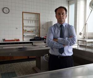 Jean-Sebastien Raul, director del instituto forense de Estrasburgo. Foto: Patrick Herzog / AFP.