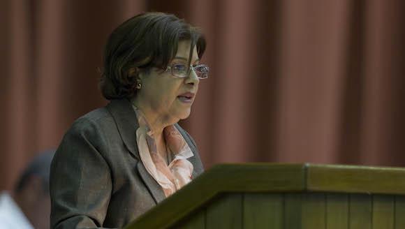 Lina Pedraza, titular del Ministerio de Finanzas y Precios. Foto: Ladyrene Pérez/ Cubadebate