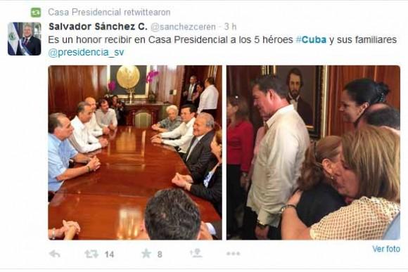 Tuit del Presidente Sánchez Cerén