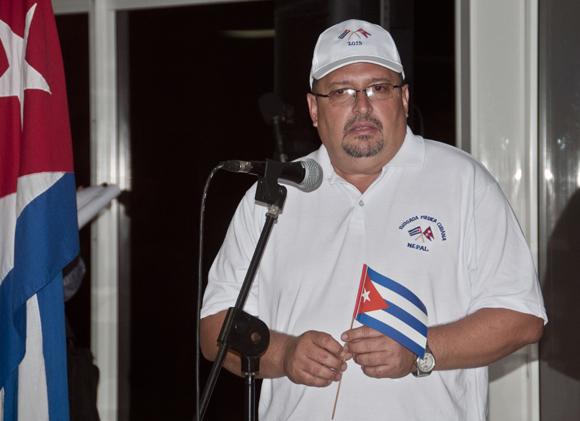 Dr. Luis Oliveros Serrano, jefe de la brigada médica cubana en Nepal. Foto: Ladyrene Pérez/ Cbadebate.