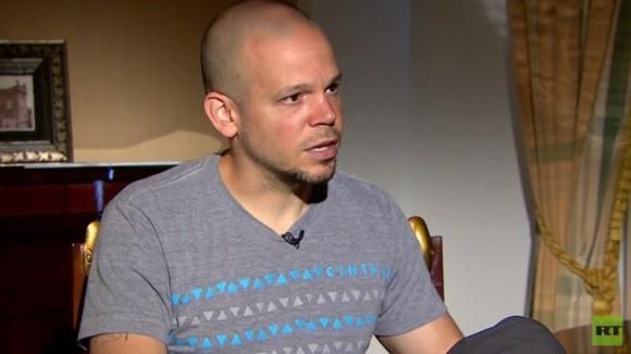 René Pérez, volcalista de Calle 13. Foto: RT.
