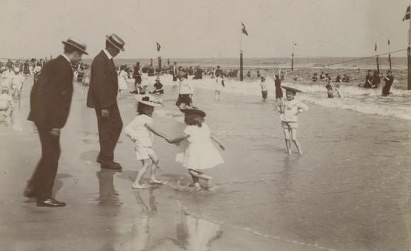 La playa tal como la vio Martí. Foto: Archivo Municipal de Nueva York