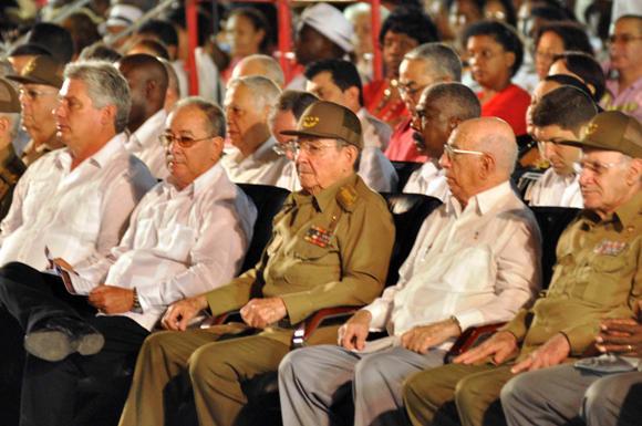 SANTIAGO DE CUBA-ACTO CENTRAL POR EL DIA DE LA REBELDIA NACIONAL 1
