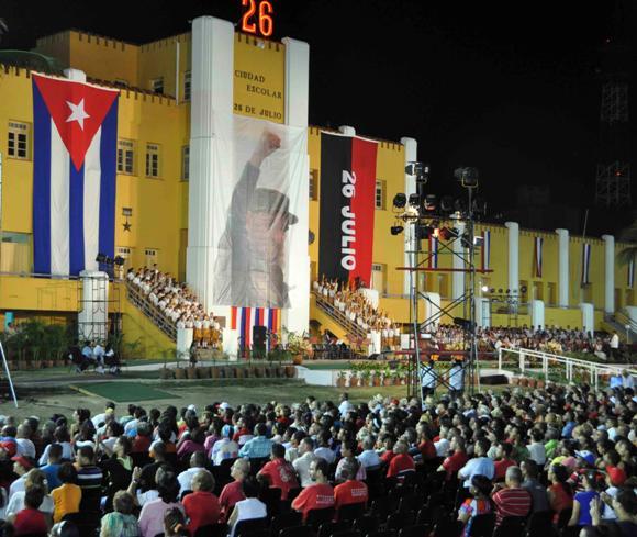 SANTIAGO DE CUBA-ACTO CENTRAL POR EL DIA DE LA REBELDIA NACIONAL 2