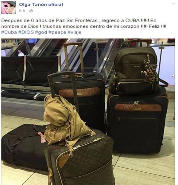 Foto tomada de la página oficial de Olga Tañón en Facebook