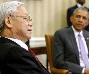 Trong, con Obama en la Casa Blanca. Foto: Reuters.