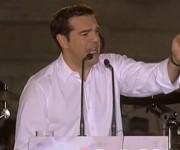 """Nadie tiene el derecho a amenazarnos, expresó Alexis Tsipras en el cierre de la campaña a favor del """"No""""."""