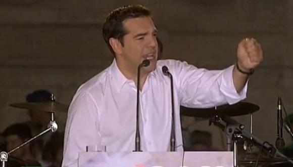 Nadie tiene el derecho a amenazarnos, expresó Alexis Tsipras en el cierre de la campaña a favor del