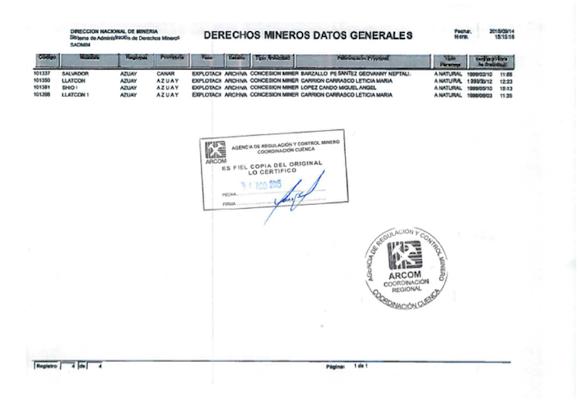 Agencia de Regulación y Control Minero Ecuador 2
