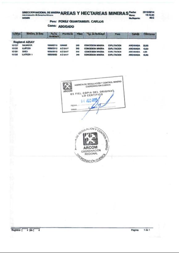 Agencia de Regulación y Control Minero Ecuador