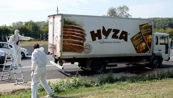 El camión está registrado a nombre de un ciudadano rumano. Foto: EFE.