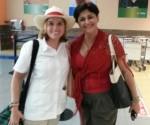Con la Alcaldesa de San Juan, Puerto Rico, de visita en Cuba. Foto 300 x 250