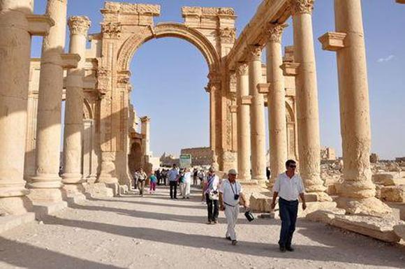 Militantes del grupo Estado Islámico destruyeron el templo de Baal Shamin, uno de los lugares más importantes de la antigua ciudad siria de Palmira. Foto: Reuters