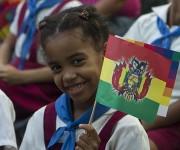 Pionera de la escuela Estado Plurinacional de Bolivia. Foto: Ladyrene Pérez/ Cubadebate.