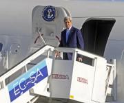 John Kerry, Secretario de Estado de los Estados Unidos de América, a su arribo al Aeropuerto Internacional José Martí, en La Habana, Cuba. Foto: Abel Padrón/ AIN.