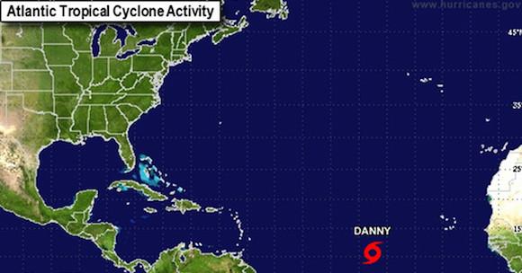 En pocos días, la tormenta tropical Danny estará cerca del arco de las Antillas Menores