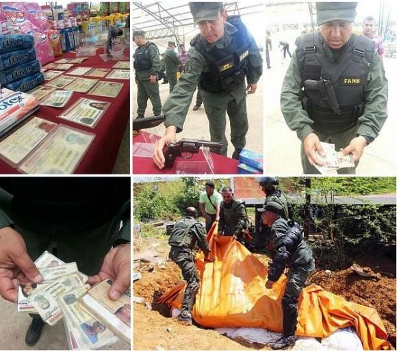 Venezuela: toneladas de alimentos escondidos bajo tierra