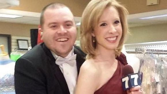 El cámara Adam Ward, de 27 años, y Alison Parker, de 24. Foto: ABC