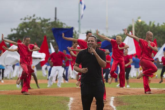 Inauguracion de la 55 Serie Nacional de Pelota, en el Estadio Jose Ramon Cepero de Ciego de Avila. Foto: Ismael Francisco/Cubadebate.