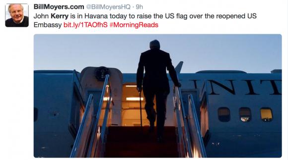 John Kerry está en La Habana hoy para levantar la bandera de Estados Unidos sobre la Embajada