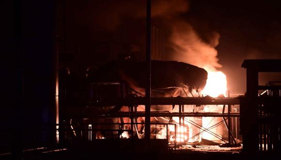 Explosión en planta química en Shandong, oriente de China. Foto: AP