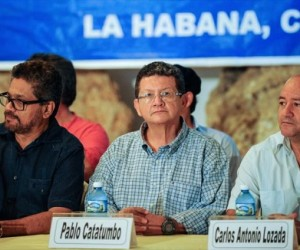 conferencia de prensa FARC-EP