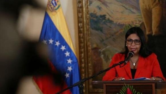 La canciller venezolana Delcy Rodríguez aseguró que las medidas tomadas por el Gobierno de Venezuela protegen al pueblo. | Foto: Archivo.