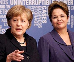 Angela Merkel y Dilma Rousseff. Foto: Iberorusa