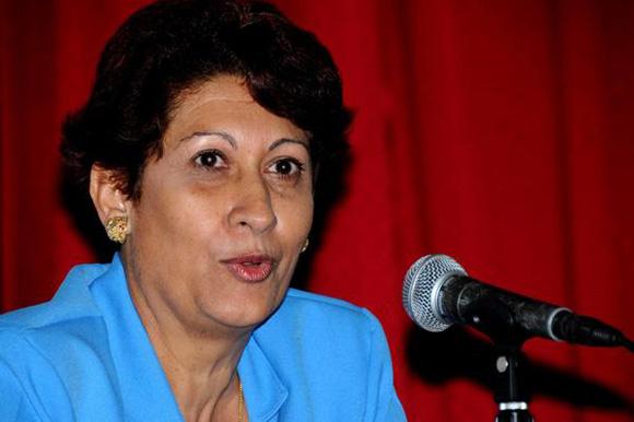 Ena Elsa Velázquez Cobiella, ministra de Educación, estará hoy en la Mesa Redonda. Foto: ACN/ Archivo.