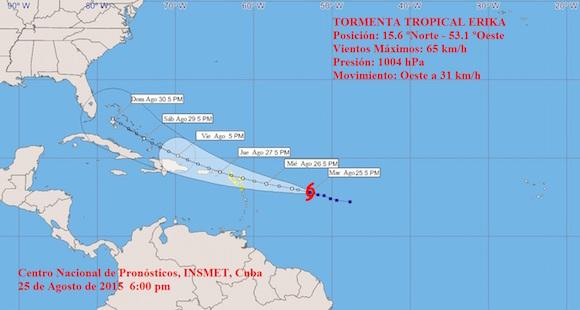 Tormenta tropical erika se aproxima a las isla de - Barlovento y sotavento ...