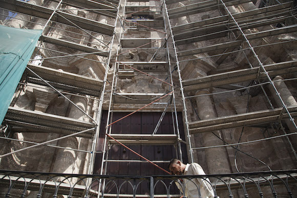 Fachada de la Catedral bajo restauración. Foto: Ismael Francisco/ Cubadebate