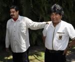 Fidel celebró su cumpleaños 89 con los Presidente Nicolás Maduro, de Venezuela, y Evo Morales, de Bolivia. Foto: Estudios Revolución