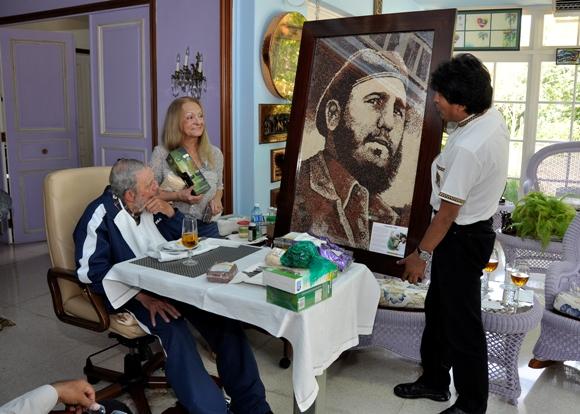 Fidel con Evo el pasado 13 de agosto de 2015 Foto: Estudios Revolución / Archivo de Cubadebate