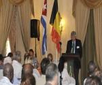Guy Bultynck, presidente de la Cámara Belgo-Luxemburguesa, en foro de negocios efectuado en el Hotel Nacional de Cuba.